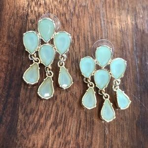 Banana Republic Jade Colored Chandelier Earrings